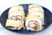 Sushi with egg — Stock Photo