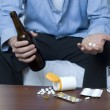 Alcohol and Drugs — Stock Photo