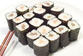 Sushi i pałeczki — Zdjęcie stockowe