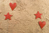 Stjärnor och hjärtan — Stockfoto