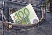 Money in the pocket — Stockfoto