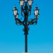 Street lamp with the religious touch in Moscow, Russia — Stock Photo #12397818