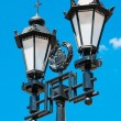 Street lamp with the religious touch in Moscow, Russia — Stock Photo #12397827