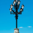 Street lamp with the religious touch in Moscow, Russia — Stock Photo #12397831