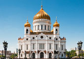 Cathedral of Christ the Savior, Moscow, Russia — Stok fotoğraf