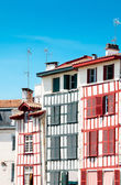 Typical Basque houses in Bayonne, France — Stock Photo