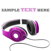 Headphones isolated on a white background — 图库照片