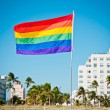 Royalty-Free Stock Photo: Rainbow Gay Pride Flag, Miami Beach, Florida, USA