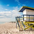 Lifeguard Tower in South Beach, Miami Beach, Florida — Stock Photo #22203949