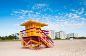 Lifeguard Tower in South Beach, Miami Beach, Florida — Stock Photo