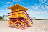 Torre de salva-vidas em south beach, miami beach, flórida — Foto Stock