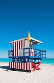 Cankurtaran kulesi south beach, miami beach, florida — Stok fotoğraf