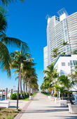 Walkway in Miami Beach, Florida — Stock Photo
