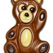 Waving chocolate bear — Stock Photo