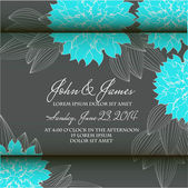 Invitation or wedding card with abstract floral background. — Stock Vector
