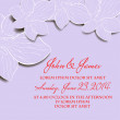 Invitation or wedding card with abstract floral background. - Grafika wektorowa