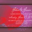 Invitation or wedding card with abstract floral background. — Stock Vector #22005569