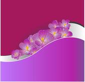 Invitación o invitación de boda con fondo floral abstracto. — Vector de stock