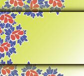 Karta s abstraktní květinovým pozadím. — Stock vektor