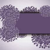Красивые цветочные пригласительные билеты — Cтоковый вектор