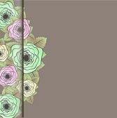 组的玫瑰。矢量插画. — 图库矢量图片