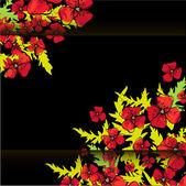 Invitación de boda o invitación con fondo floral abstracto. — Vector de stock