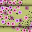 Fantasy spring flowers growing. Vector illustration — Stock Photo