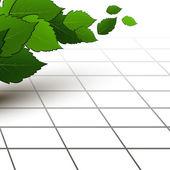 Spring - fresh green leaf. Vector illustration — Stock Vector