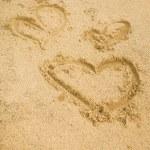 Inscription on the sand — Stock Photo #40369475