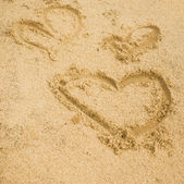 Inscription on the sand — Stock Photo
