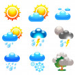 Weather conditions — Stock Vector