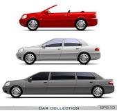 Car collection — Stock Vector