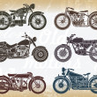 Vector set of old classic motorcycle — Stock Vector #39054931