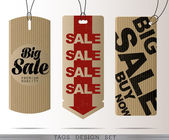 PAPER SALE TAGS — Stock Vector