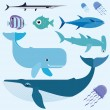 Sea vector set — Stock Vector