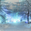 Stock Photo: Night landscape in winter city