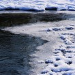 On the edge of ice and frost, frozen water — Stock Photo