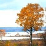 Autumn in Russian village — Stock Photo