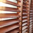 Stock Photo: Close up of wooden window shutters