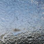 Ice patterns on glass — Stock Photo
