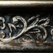 Floral designs, engraving on copper, floral ornament on metal texture — Stok fotoğraf