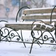 Bench in winter park — Stock Photo #22164673