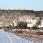 Snowy rural landscape in winter — Stock Photo #22164891