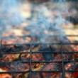 Meat on the barbeque — Stock Photo