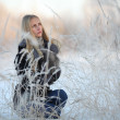 Portrait of frozen girl beautiful blonde — Stock Photo #22168679