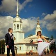 Stock Photo: Wedding ceremony in the church