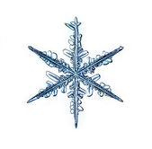 Natural floco de neve de natal isolado no fundo branco — Foto Stock
