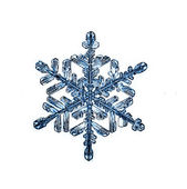 Natural snowflake — Stock Photo