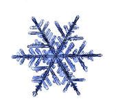 Natürliche weihnachten schneeflocke isoliert auf weißem hintergrund — Stockfoto