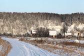 Snowy rural landscape in winter — Stock Photo